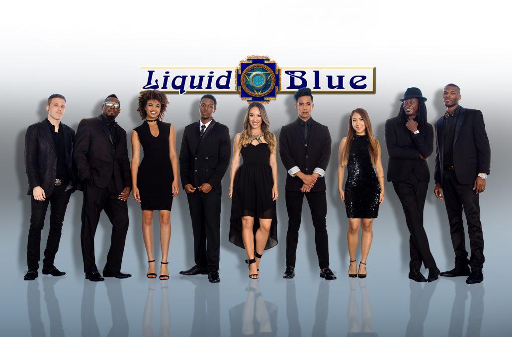 3-LB9 Black Logo Bk Reflect - Liquid Blue