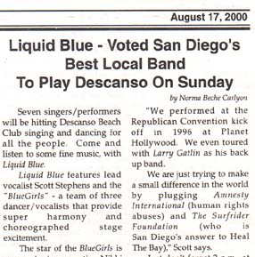 Avalon Bay News - Liquid Blue