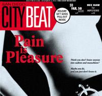 San Diego City Beat Pain is Pleasure- liquid Blue