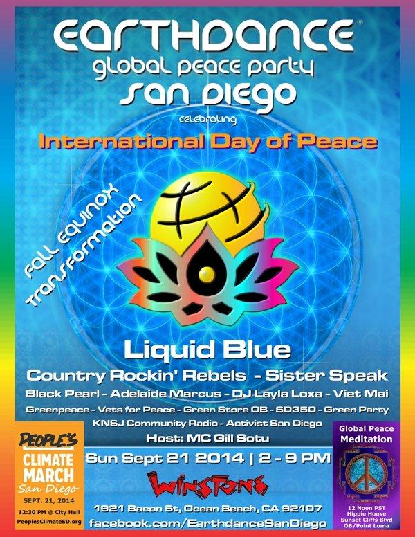 Earth Dance San Diego - Liquid Blue