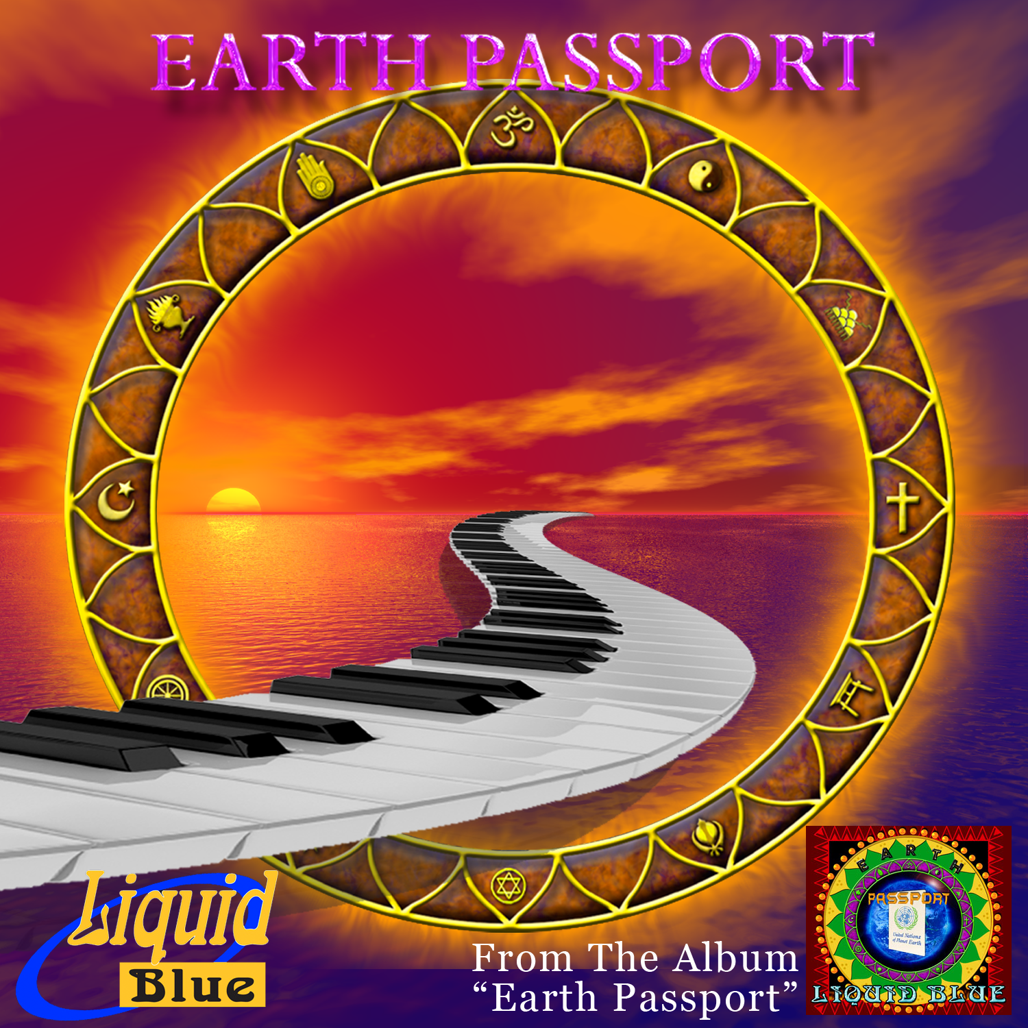 Earth Passport - Liquid Blue