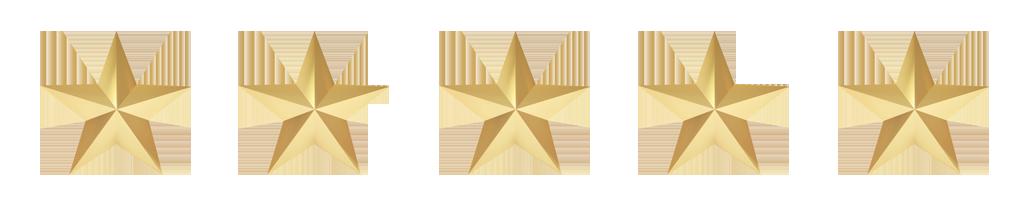 Five Stars Reviews - Liquid Blue