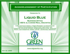 Green Certificate - Liquid Blue