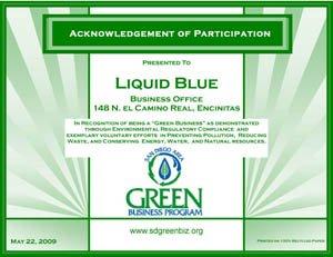 Green Certificate - Liquid Blue