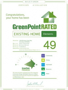 Green Point Certificate - Liquid Blue