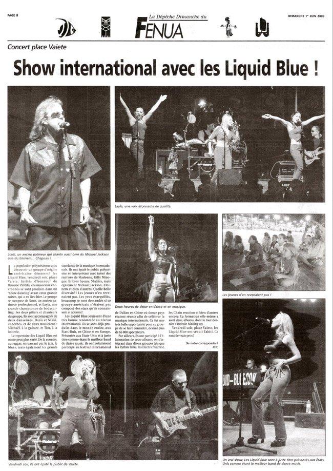 La Depeche Tahiti - Liquid Blue
