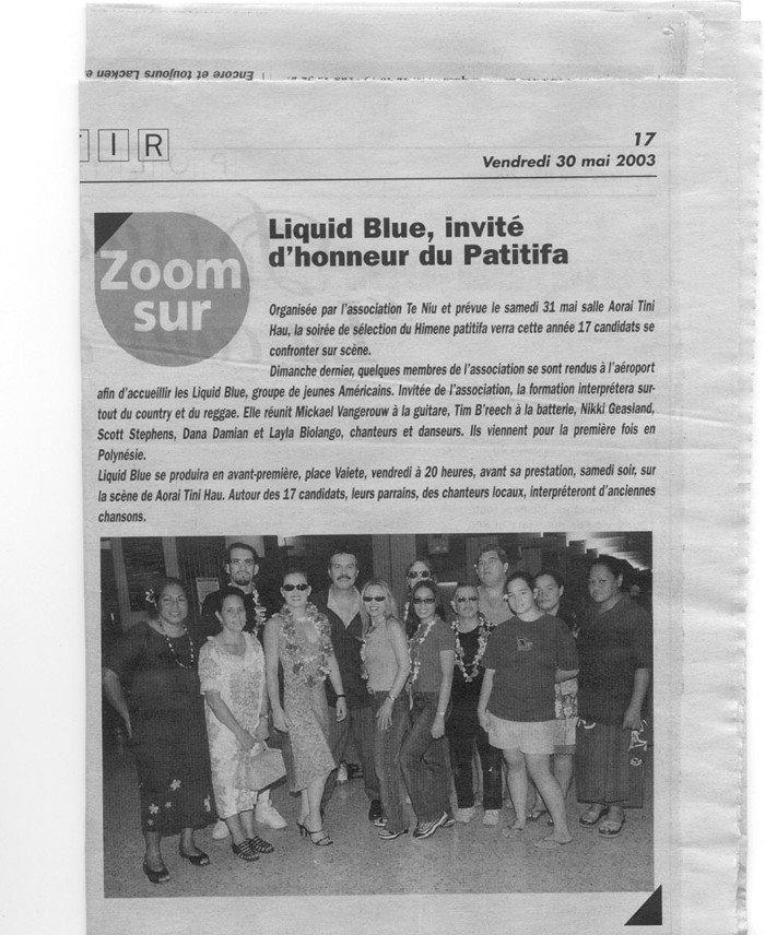Les Nouvelles May 30 - Liquid Blue