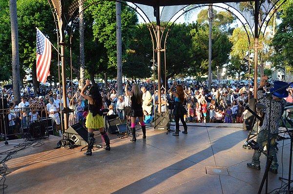 Liquid Blue Band in Coronado CA at Spreckels Park - Liquid Blue