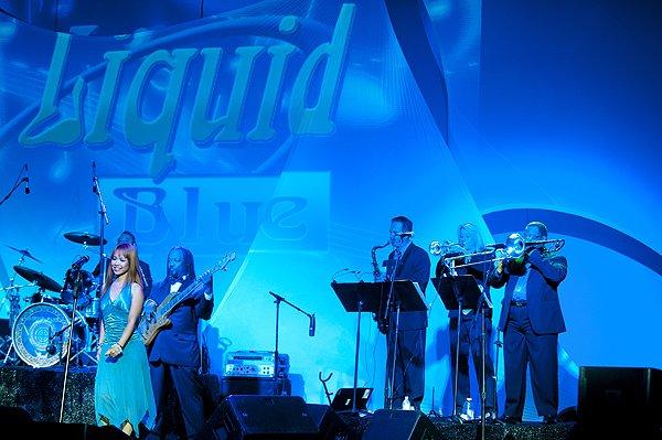 Liquid Blue Band in LA Jolla CA at LA Jolla Beach and Tennis Club - Liquid Blue