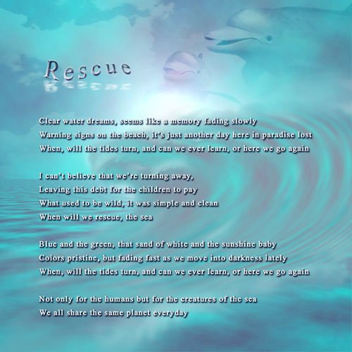 Lyric Art 08 Rescue - Liquid Blue