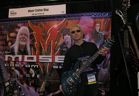 Michael Vangerov Custom Guitar On Display At NAMM - Liquid Blue
