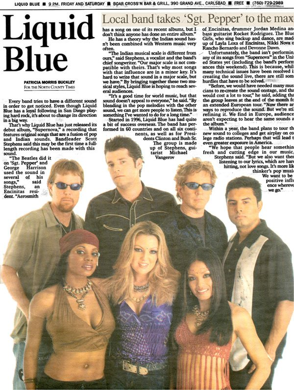 North County Times - Liquid Blue