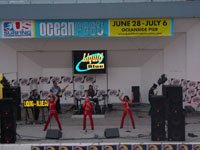 Band Performs at Oceanfest - Liquid Blue