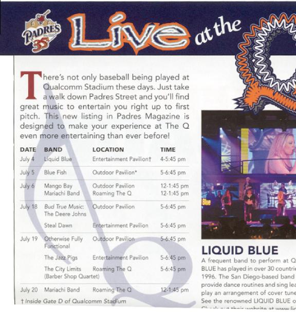 Padres Article - Liquid Blue