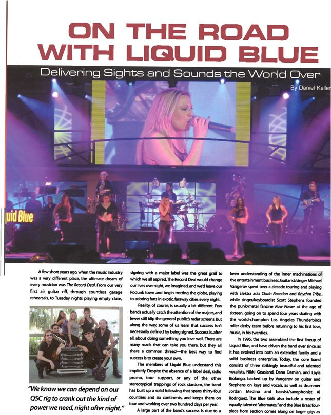 On The Road With Liquid Blue - Liquid Blue