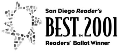 San Diego Reader Best Logo - Liquid Blue