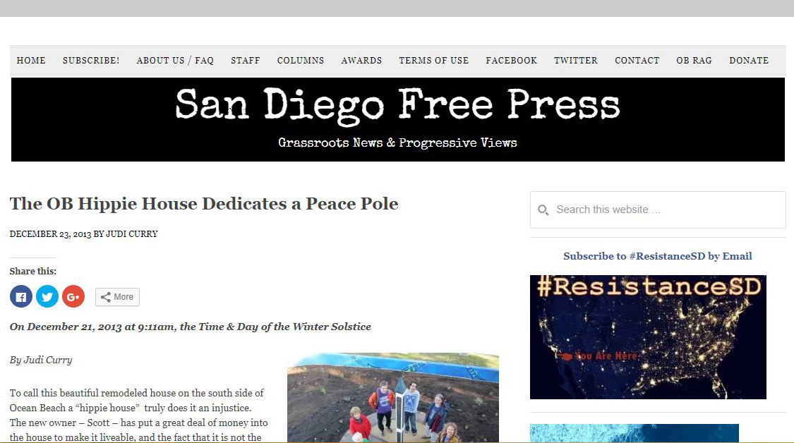 San Diego Free Press - Liquid Blue