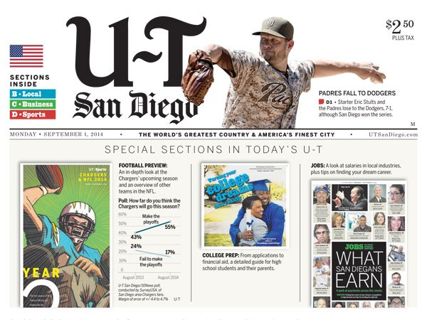 San Diego Union Tribune - Liquid Blue