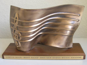 San Diego Music Awards Trophy - Liquid Blue