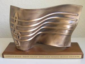 San Diego Music Awards Trophy - Liquid Blue