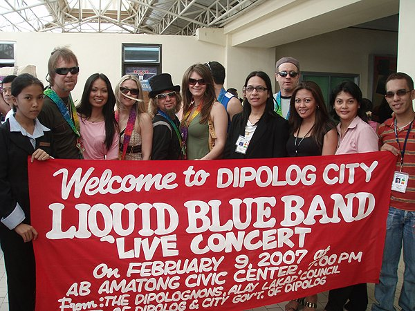 Dipolog City Philippines Welcome - Liquid Blue