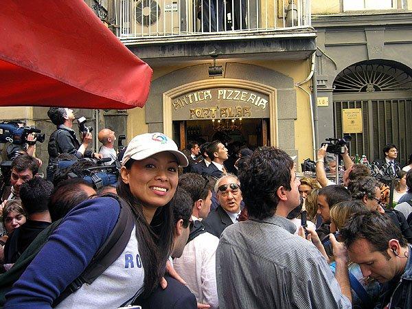 Italian President Entourage Walk The Streets