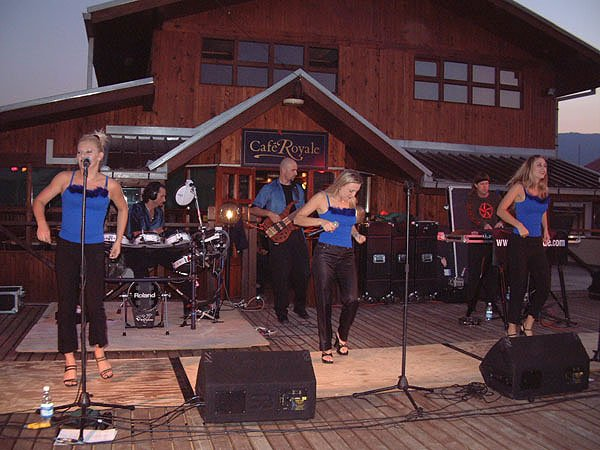 Liquid Blue Performs At Cafe Royale