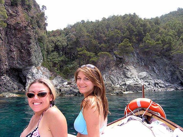 Nikki and Kristen In Bonassola