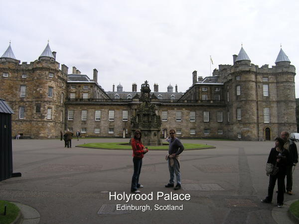 Palace stands in Edinburgh