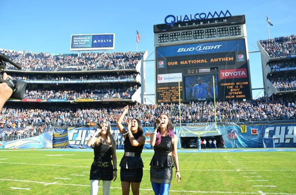 Liquid Blue Band in San Diego CA at Qualcomm Stadium