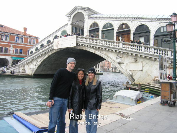Rialto Bridge Spans The Grand Canal