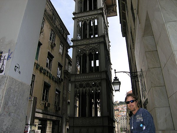 Santa Justa Lift at Santa Justa Street