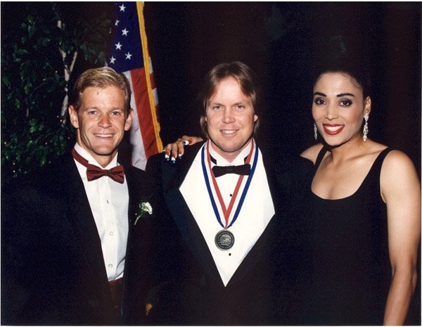 Bart Conner and Florence Griffith Joyner