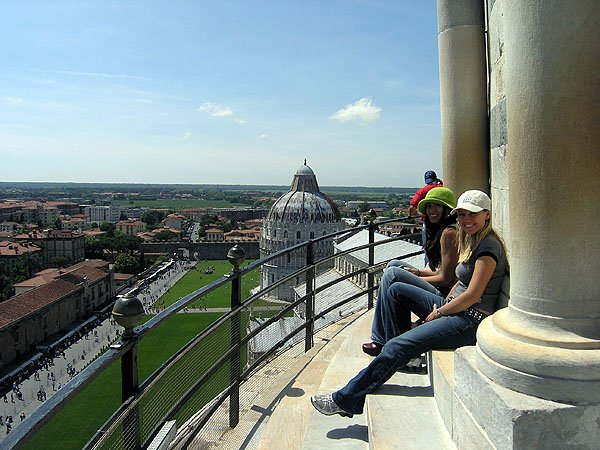 Sitting Atop The Leaning Tower of Pisa