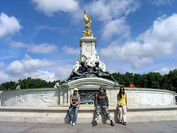 The Victoria Memorial at Buckingham Palace