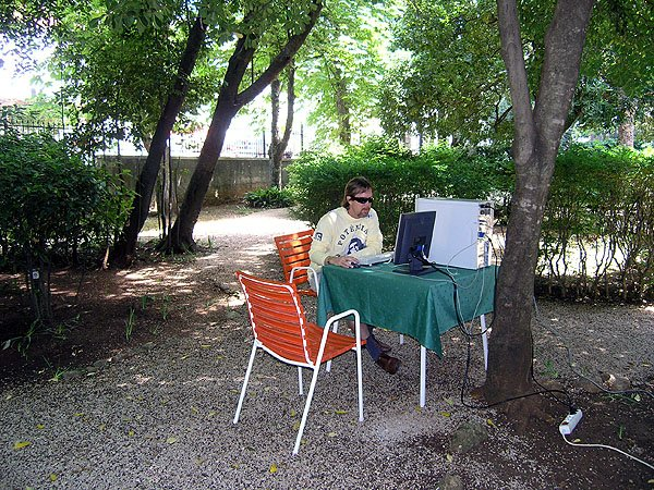 Unique Outdoor Internet Cafe