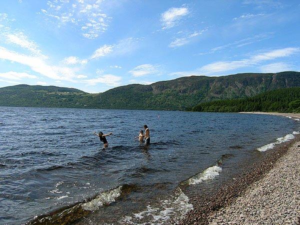 Wading in Loch Ness