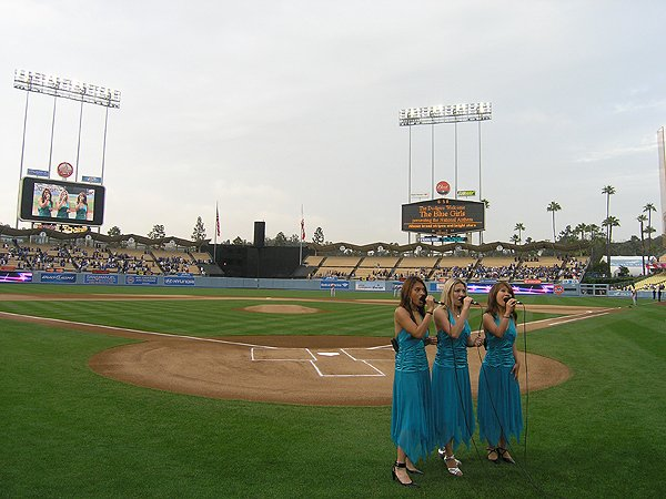 2009-06-03 Liquid Blue Band in Los Angeles CA at Dodger Stadium National Anthem 001