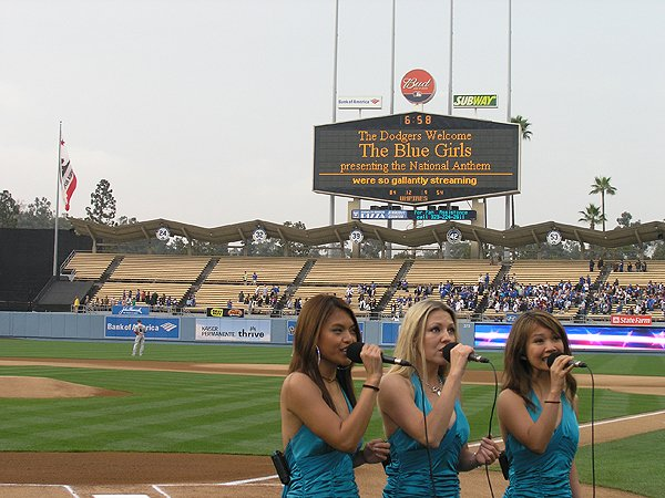 2009-06-03 Liquid Blue Band in Los Angeles CA at Dodger Stadium National Anthem 002
