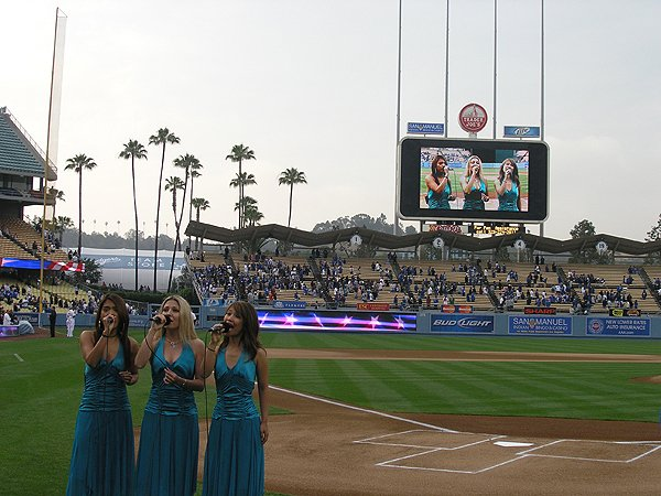 2009-06-03 Liquid Blue Band in Los Angeles CA at Dodger Stadium National Anthem 003