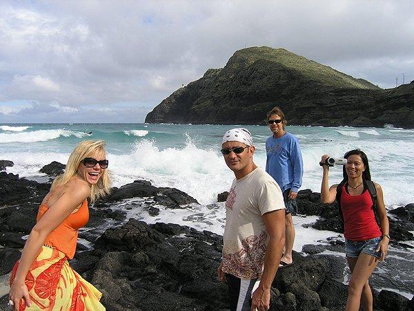 2009-11-16 Liquid Blue Band in Ohau HI Makapuu Beach 000