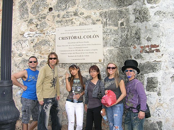 2010-11-18 Liquid Blue Band in Santo Domingo Dominican Republic Christopher Columbus House UNESCO