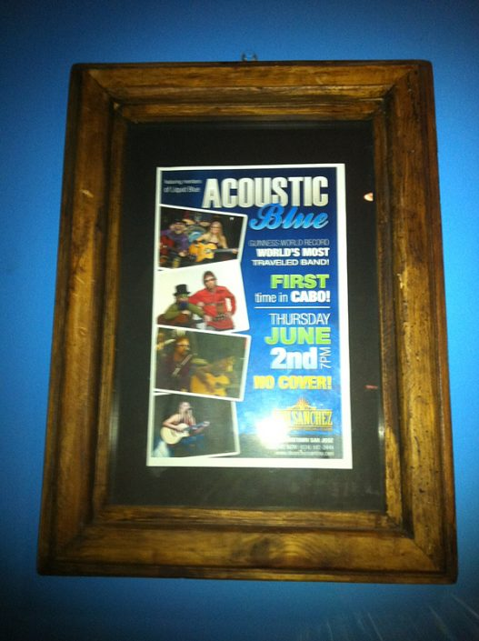 2011-06-02 Don Sanchez Cantina Acoustic Blue Poster
