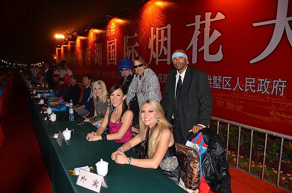2011-10-23 Liquid Blue Band In Hangzhou China West Lake Fireworks Show 004