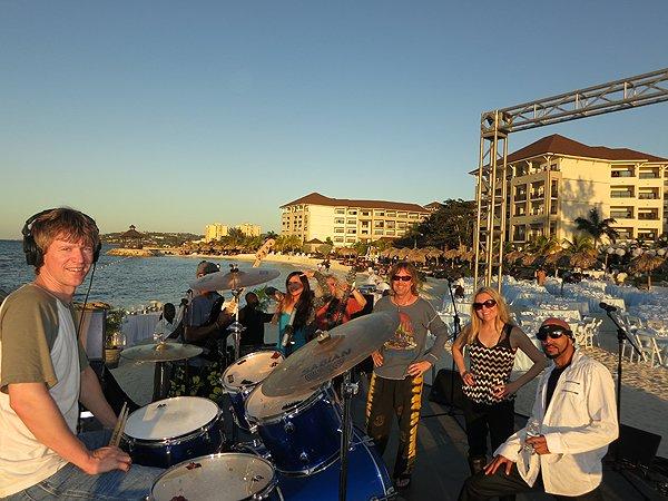 2013-01-18 Liquid Blue Band in Montego Bay Jamaica 011