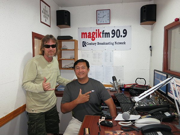 2013-02-08 Liquid Blue Band In Dipolog City Philippines Magik Fm Radio Station