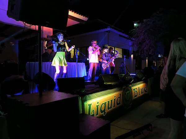 2015-01-14 Liquid Blue Band in Guanacaste Costa Rica at The Westin Playa Conchal 035