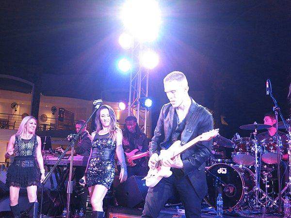 2016-01-11 Liquid Blue Band in Puerto Vallarta Mexico at Secrets Resort 256