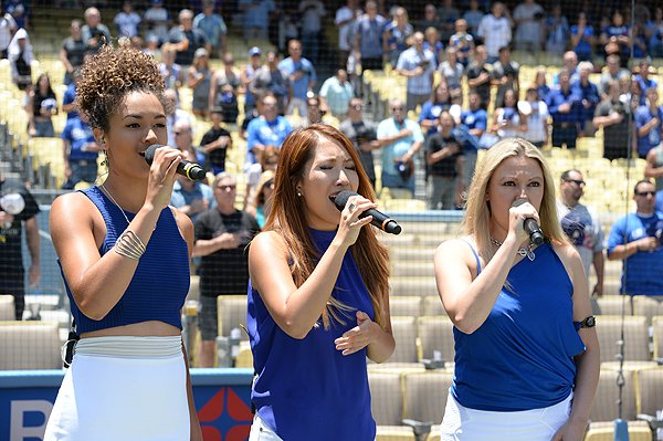2016-07-10 National Anthem at Dodger Stadium
