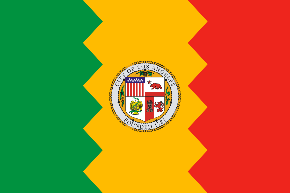 Flag of Los Angele California